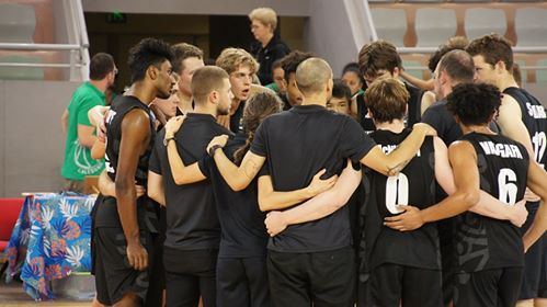 U17 Boys huddle